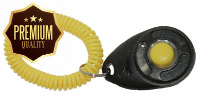 STARMARK Black and Yellow Training Clicker with Wristband