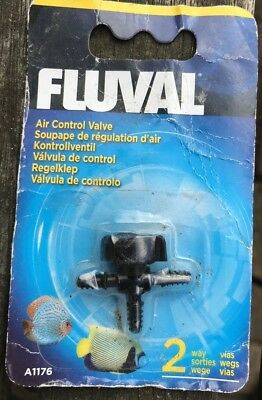 Fluval Air Control Valve 2 Way A1176 For Marine Tropical Coldwater Fish Tank