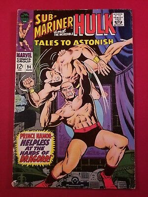 Tales To Astonish #94 1 Owner 5.5 Fine- White Pages Bill Everett Latouts Glossy!