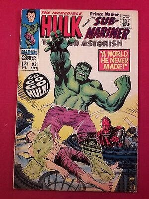 Tales To Astonish #95 6.0 Fine White To O/white 1 Owner Glossy More Listed Look!