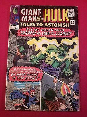 Tales To Astonish #69 Hulk & Giant Man Ends. 1 Owner More Listed In No Reserve@@