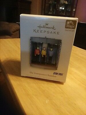 2006 Hallmark Keepsake Ornament The Transporter Chamber Star Trek Sound & Light