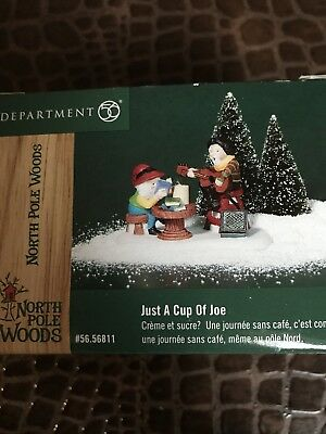 Dept 56 Heritage Village Collection North Pole Series JUST A CUP OF JOE
