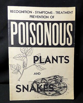 Vintage 1948 Pennsylvania Power & Light  Poisonous Plants and Snakes  booklet