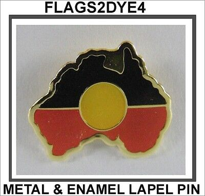Aboriginal flag Australian map lapel pin badge INCLUDES AUSTRALIA POST TRACKING
