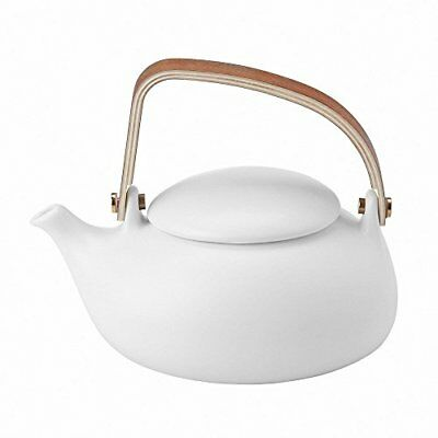 Teapot, Tea Pot With Infuser, Ceramic Teapot Loose Leaf Tea 800 Ml/0.8 Litre Wit