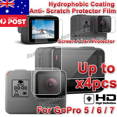 2x LCD Lens Tempered Glass Film Screen Protector For GoPro Hero 7 5 6 Camera