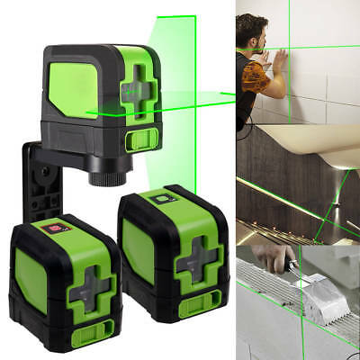 2 Line 360° Rotary Red/Green Laser Self-Leveling Vertical Horizontal Level