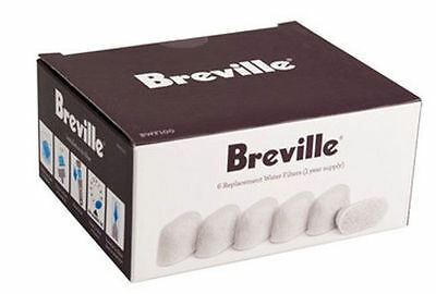 6 pc Coffee Machine Charcoal Water Filter  Replacement for Breville / Keurig