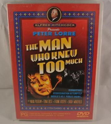 THE MAN WHO KNEW TOO MUCH DVD Movie Aus R4 Like New Free Postage Australia Wide