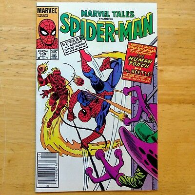 Marvel Tales #159 - AMAZING SPIDER-MAN #21 Reprint HUMAN TORCH, THE BEETLE 1984