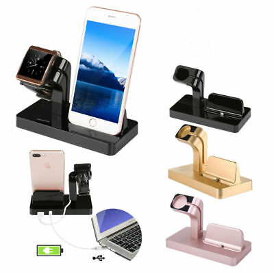 Aluminum Charging Dock Station Holder Stand For iWatch iPhone Apple Watch New US