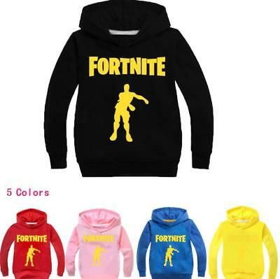 Kids Hoodie Game Fortnite Battle Star Girls Boy Sweatshirt Clothing 2-11Years