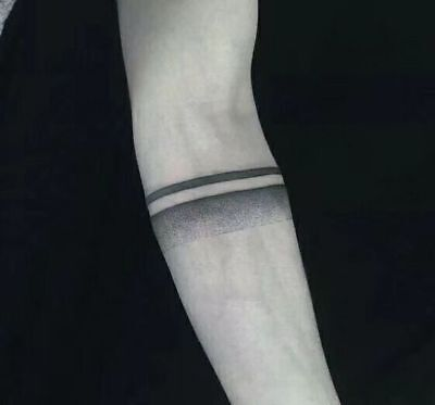 Waterproof Temporary Fake Tattoo Stickers Black Grey Armband Unique Cool Large