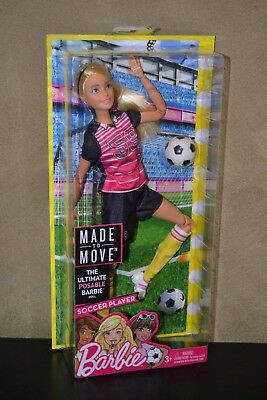Brand New Barbie Doll Made To Move Blonde Soccer Player