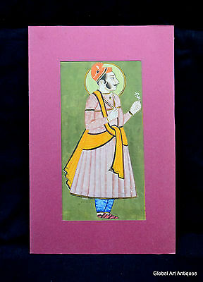 Rare Hand Painted Fine Decorative Collectible Indian Miniature Painting. i55-28