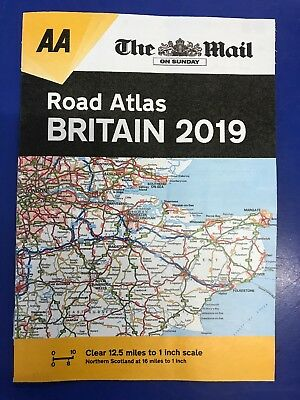 The Mail On Sunday / Daily Mail Aa Road Atlas Britain 2019 31 Pages Handy Size