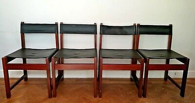 4 Robin Day chairs Hille vintage mid century modern 1960s PVC Teak rare Props