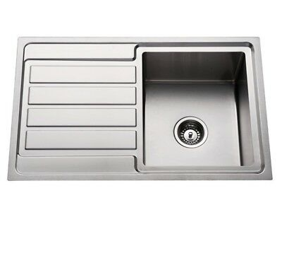 304 Stainless Steel Kitchen Sink single Top mount kitchen/Laundry Sink Right Han