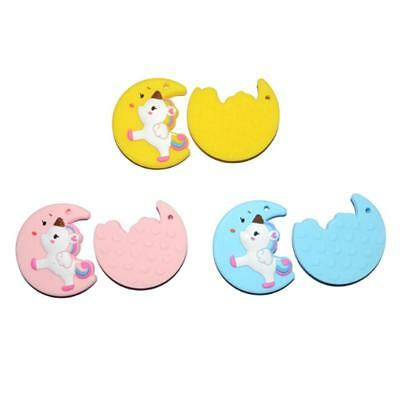 Newborn Toddler Kids Chew Teether Infant Baby Silicone Unicorn Teething Toys T