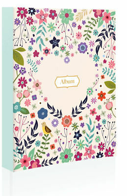 4X6'' Heart Floral slip In Photo Album Cover for Holds 80 Photos Keep Memory