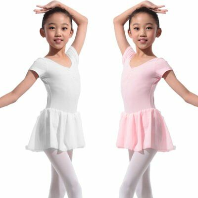 Kids Girls Toddler Gymnastics Ballet Dress Leotard Tutu Skirt Dance Wear Costume