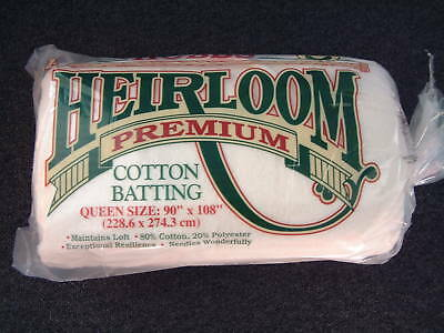 """Hobbs Heirloom Batting/Wadding for Patchwork Quilts - Queen size 90"""" x 108"""""""