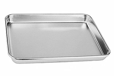 Rykey 10x8x1-inch Stainless Steel Cake Bake Pan ,compact Toaster Oven Pan Tray O