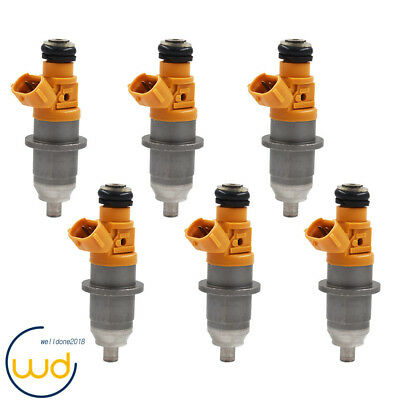 6 Fuel Injector Fit For 03-up 60V-13761-00-00 Yamaha Outboard HPDI 250 300HP