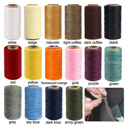 260m 1mm Flat Sewing Coarse Braid Waxed Thread Cord For Leather Shoes Repair