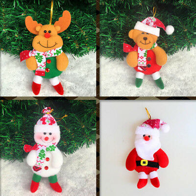 1x Merry Christmas Tree Hanging Decor Santa Snowman Elk Bear Home Ornaments