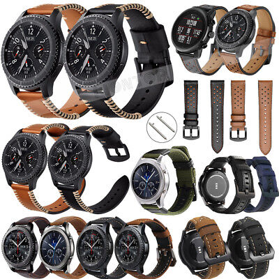 Luxury Leather Watch Band 20 22mm Quick Release Strap For Samsung Gear S3 Sport