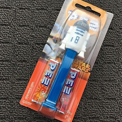 """STAR WARS: R2-D2 ANDROID """"Blue"""" Novelty Shaped Collectable PEZ Candy Dispenser"""