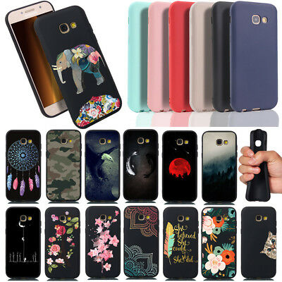 For Samsung Galaxy A5 J3 J5 J7 2017 Painted Shockproof Slim Silicone Case Cover