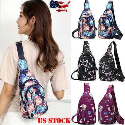 Women's Hot Floral Print Vivisecret Sling Waterproof Crossbody Chest Bag Travel