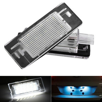 2x Car LED Lamp License number Plate Light For Benz / Opel Smart W451 2007-2015