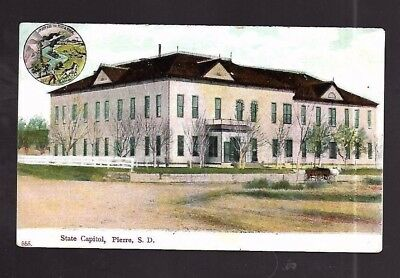 Vintage Postcard State Capitol Pierre South Dakota