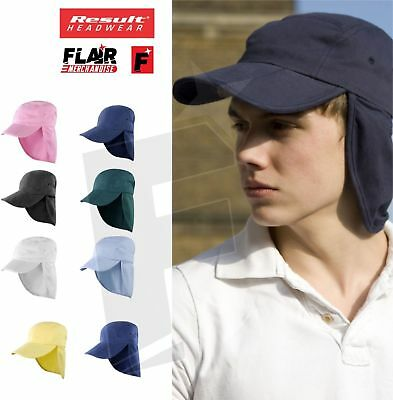 Result Fold Up Legionnaire Sun Hat Cap Ear Neck Head Holiday UV Protection RC76A