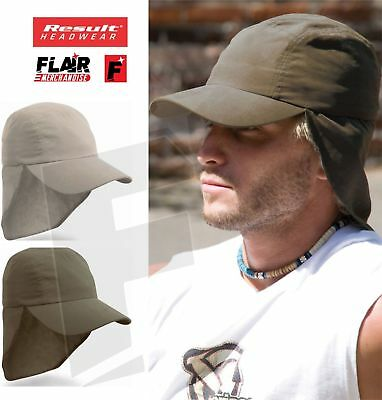 Result CAP HAT SUN HIGH PROTECTION COVER ADJUSTABLE HOLIDAY TRAVEL LEGIONNAIRE