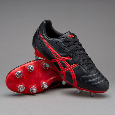 Asics Lethal Tackle SG Onyx White Vermilion Rugby Boots Size UK 8 9 10 11