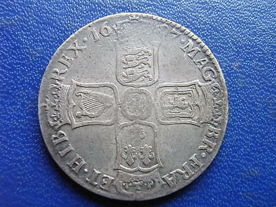 William III silver Halfcrown Nono 1697