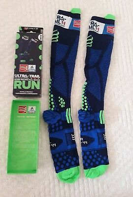 Chaussettes Compressport Hautes Ultra Trail Run Neuves 40 À 44