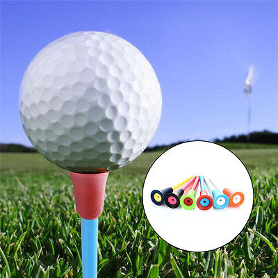 50Pcs Mixed Color 83mm Rubber Top Golf Tees Golfer Training Golf Acceessories