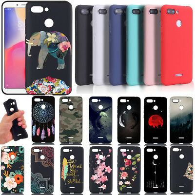 For Xiaomi Redmi 6A 6 Pro Painted Shockproof Slim Color Silicone Case Back Cover