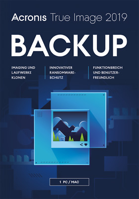 Acronis True Image 2019 1 PC MAC BACKUP SOFTWARE