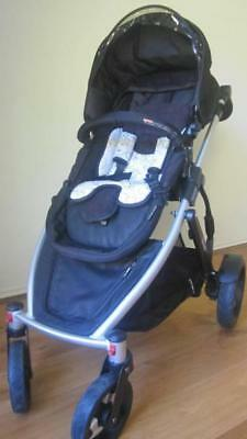Steelcraft Strider Plus 4 Pram w/rain protector+sunshade+boot cover+freebie