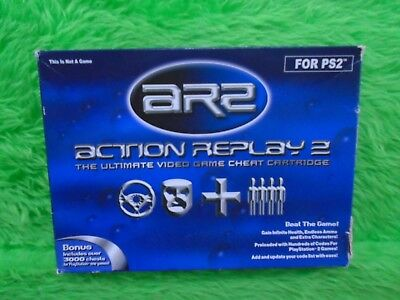 ps2 ACTION REPLAY 2 AR2 Cheat Codes Discs + Memory Card PAL