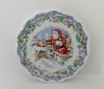 Rare Royal Doulton The Snowman Collection Wall Plate - The Visit - Perfect !!