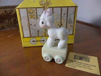 Precious Moments Birthday Train Happy Birthday Little Lamb 1985 # 15946 & box