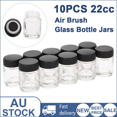10pcs 100cc Plastic Airbrush Bottles For Standard Dual Action Airbrushes P2C8
